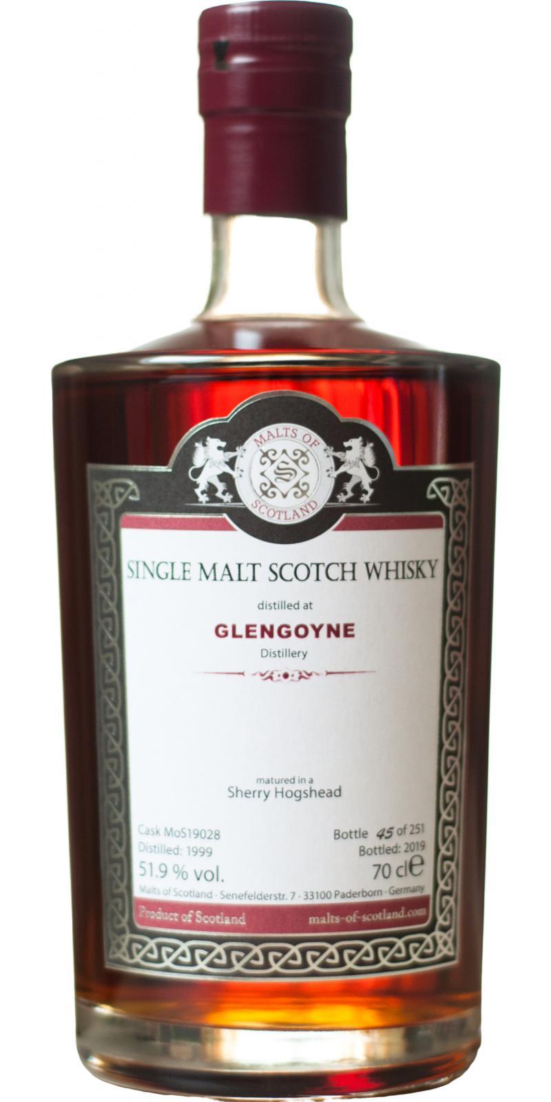 Glengoyne 1999 MoS