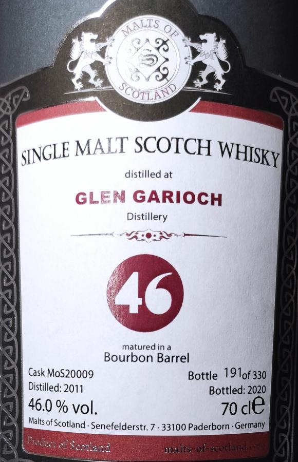 Glen Garioch 2011 MoS