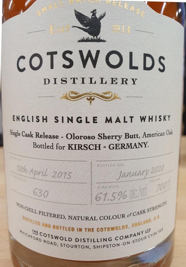Cotswolds Distillery 2015