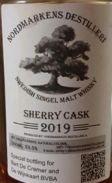 Nordmarkens Sherry Cask 2019