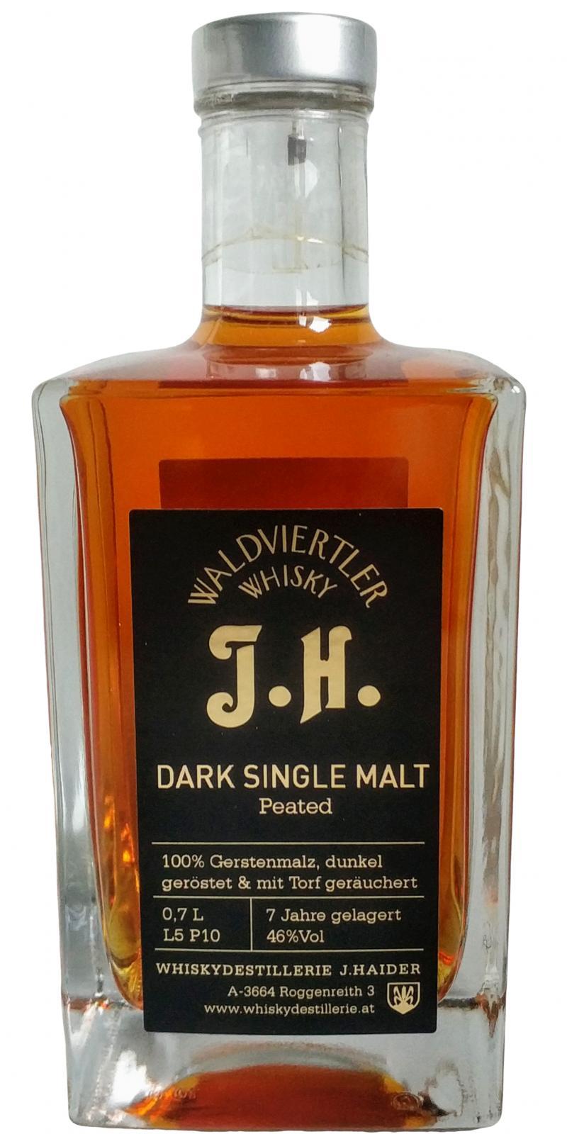 Waldviertler Whisky J.H. Dark Single Malt
