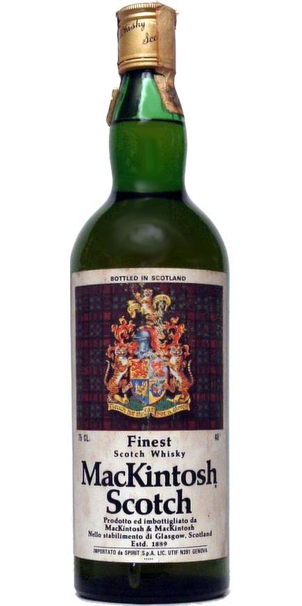 MacKintosh Scotch Finest Scotch Whisky