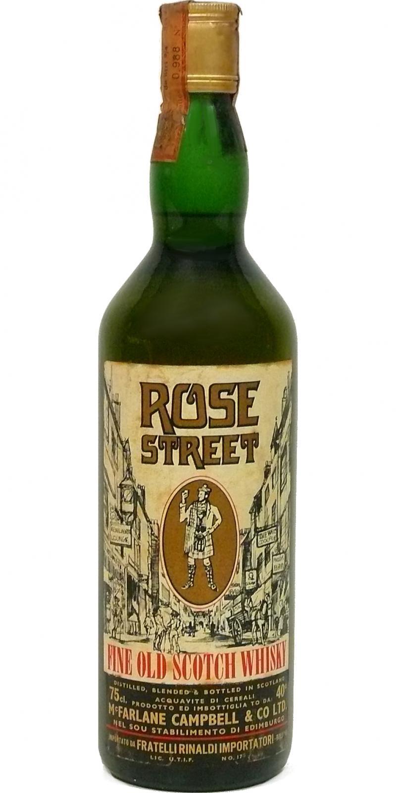Rose Street Fine Old Scotch Whisky