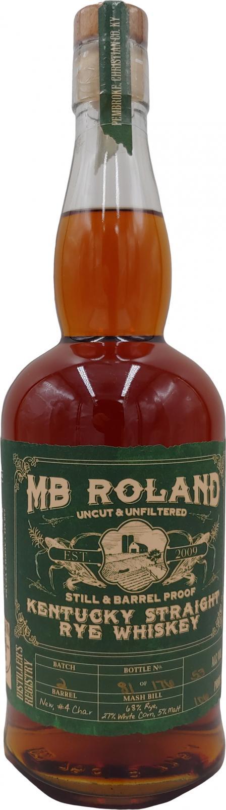 MB Roland Kentucky Straight Rye Whiskey