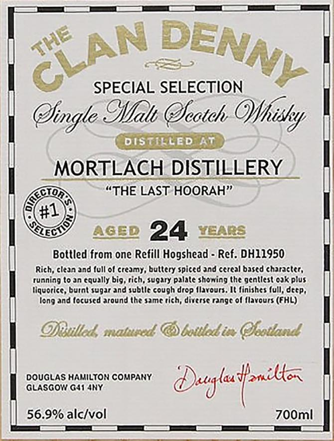 Mortlach 24-year-old DH