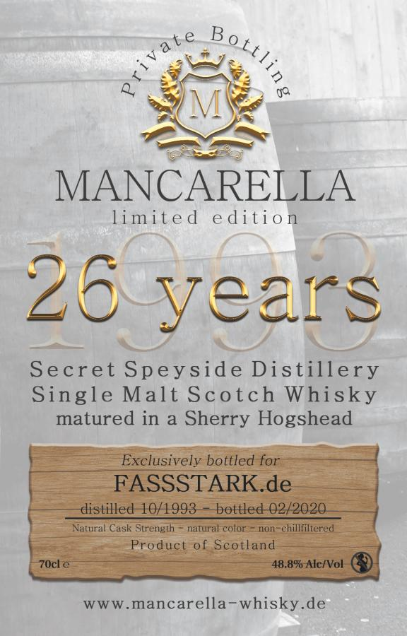 Secret Speyside Distillery 1993 Ma
