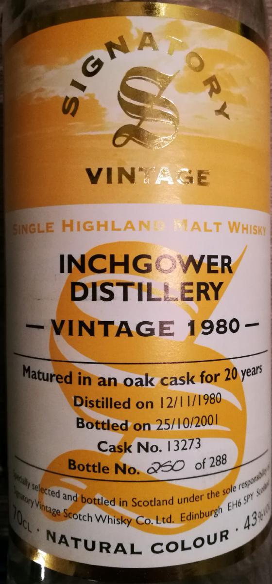 Inchgower 1980 SV