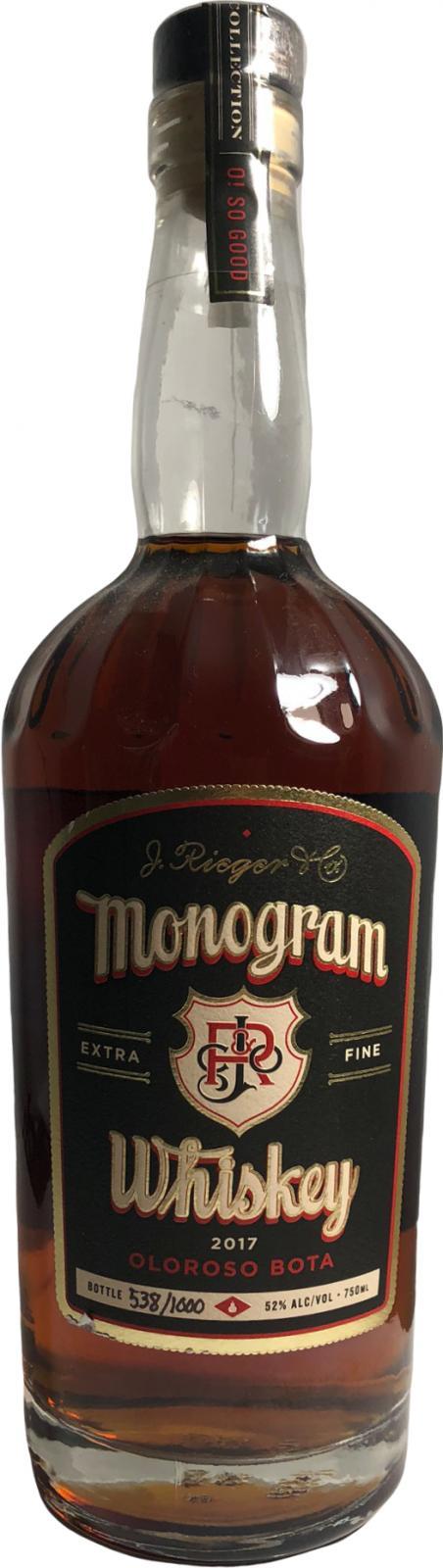 Rieger's Monogram Whiskey