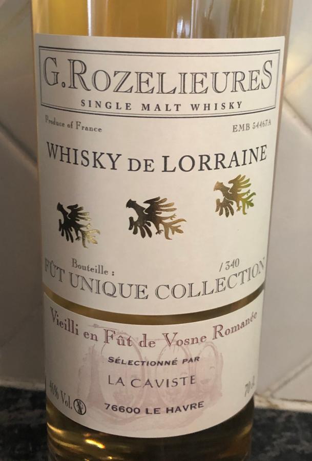G. Rozelieures Whisky de Lorraine