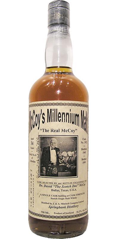 Springbank 1965 McCoy's Millennium Malt