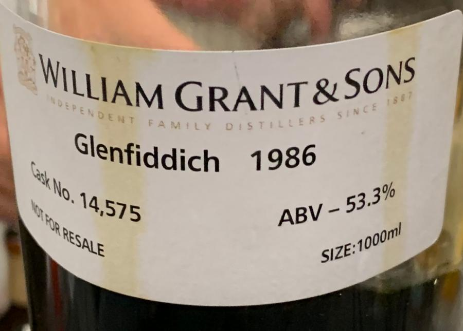 Glenfiddich 1986