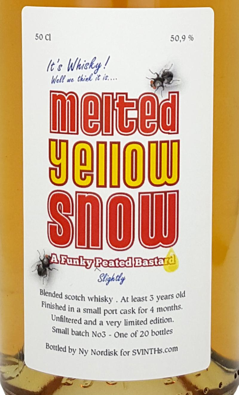 Blended Scotch Whisky Melted Yellow Snow