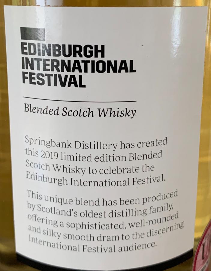 Edinburgh Festival 2019 SpD