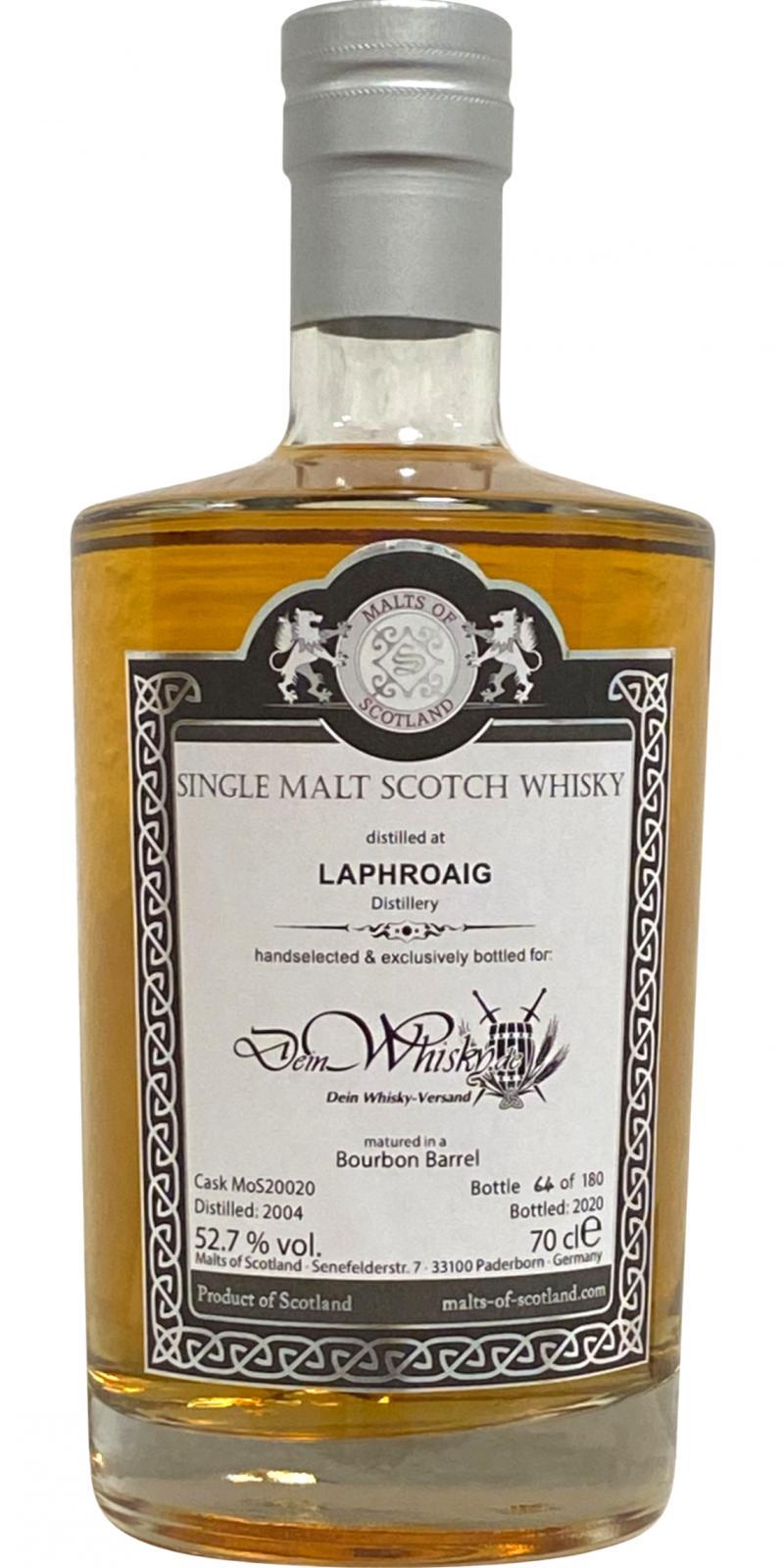 Laphroaig 2004 MoS