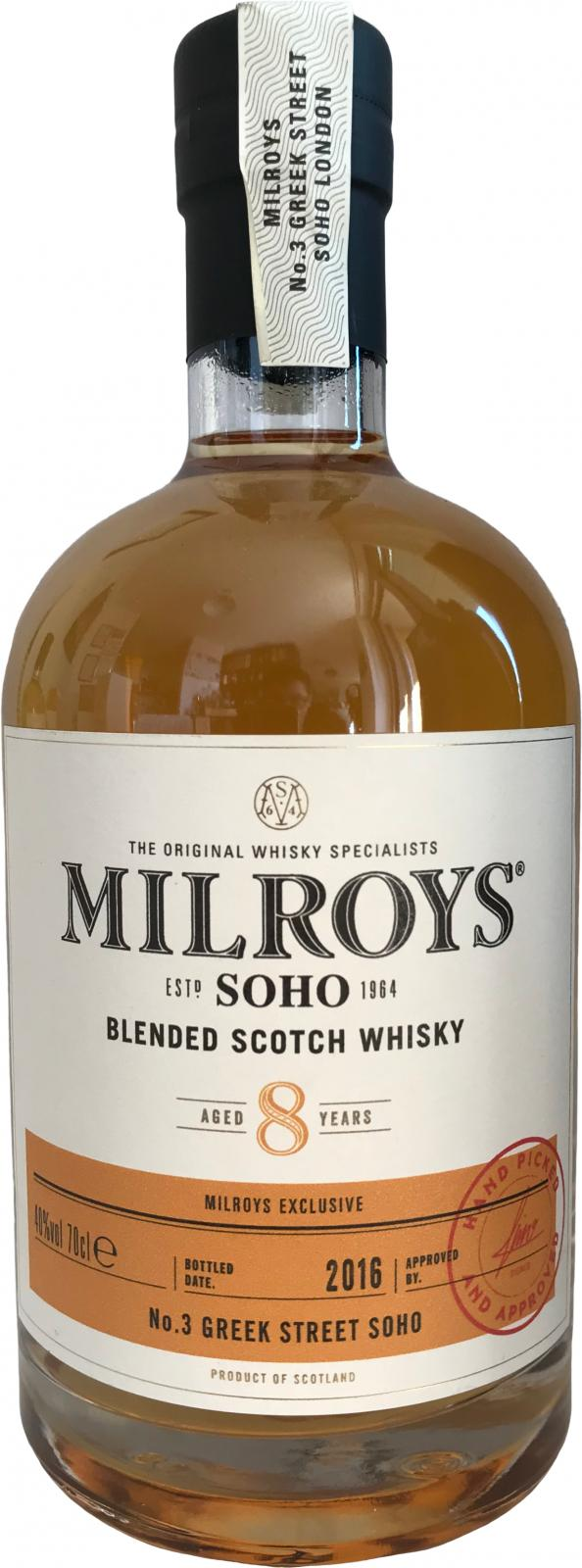 Blended Scotch Whisky 08-year-old Soh