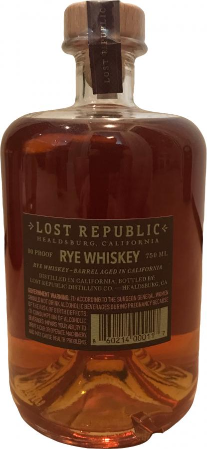 Lost Republic Rye Whiskey