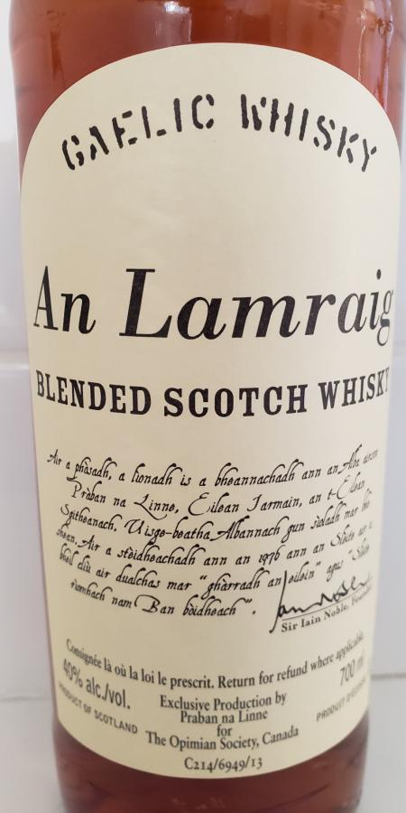 Blended Scotch Whisky An Lamraig