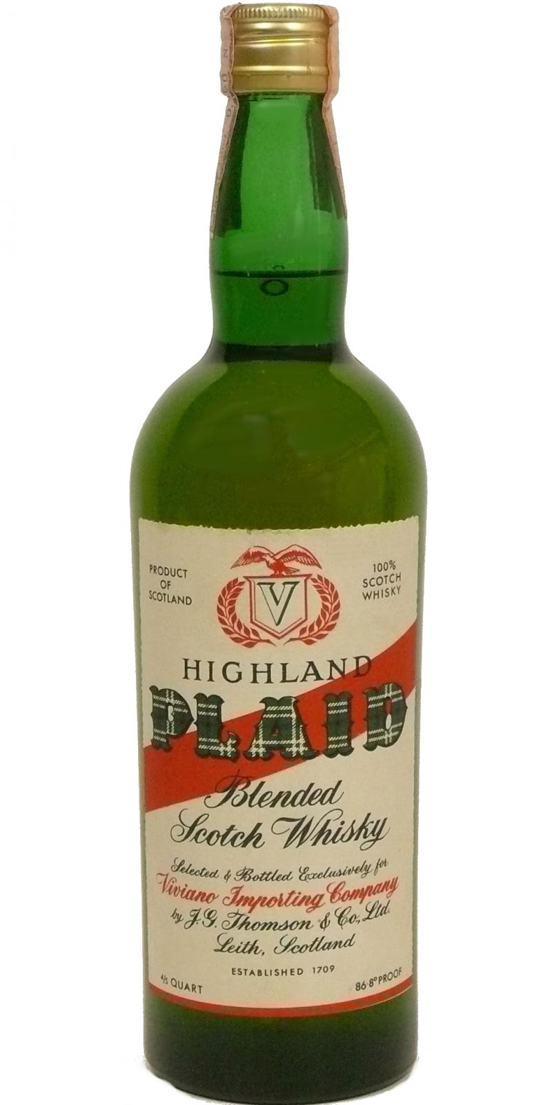 Highland Plaid Blended Scotch Whisky