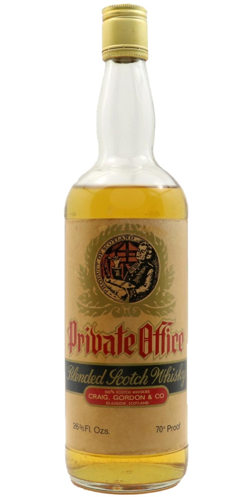 Private Office Blended Scotch Whisky