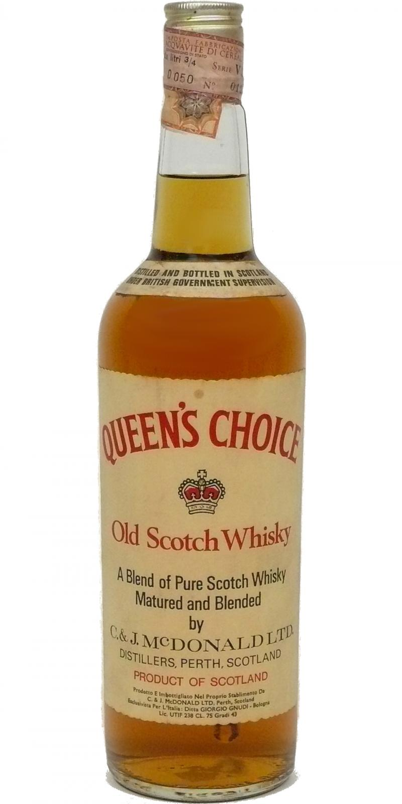 Queen's Choice Old Scotch Whisky