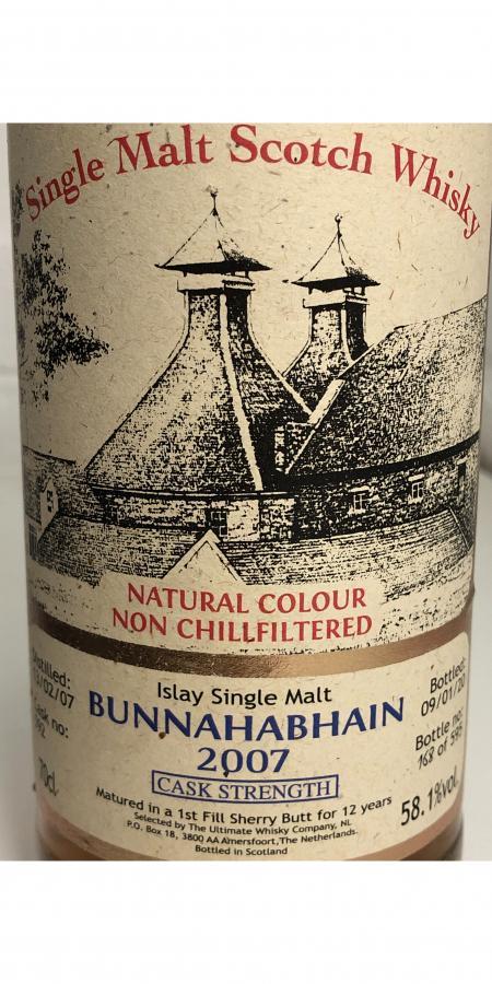Bunnahabhain 2007 vW