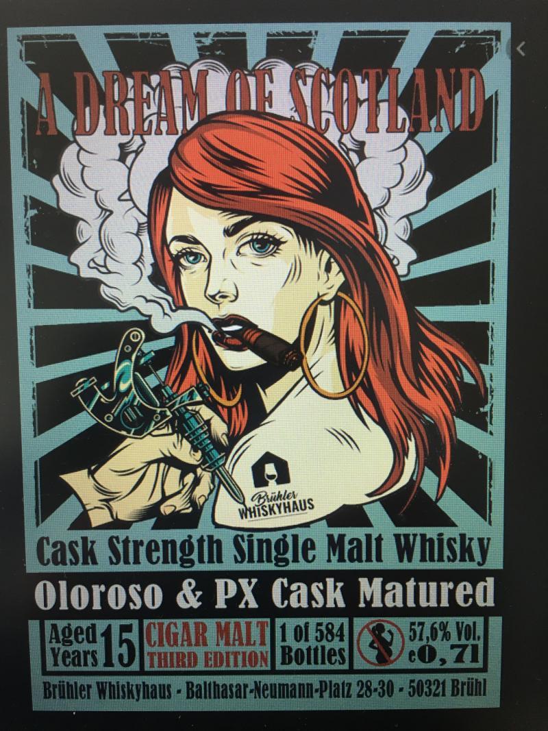 Single Malt Whisky 15-year-old BW - Cigar Malt III