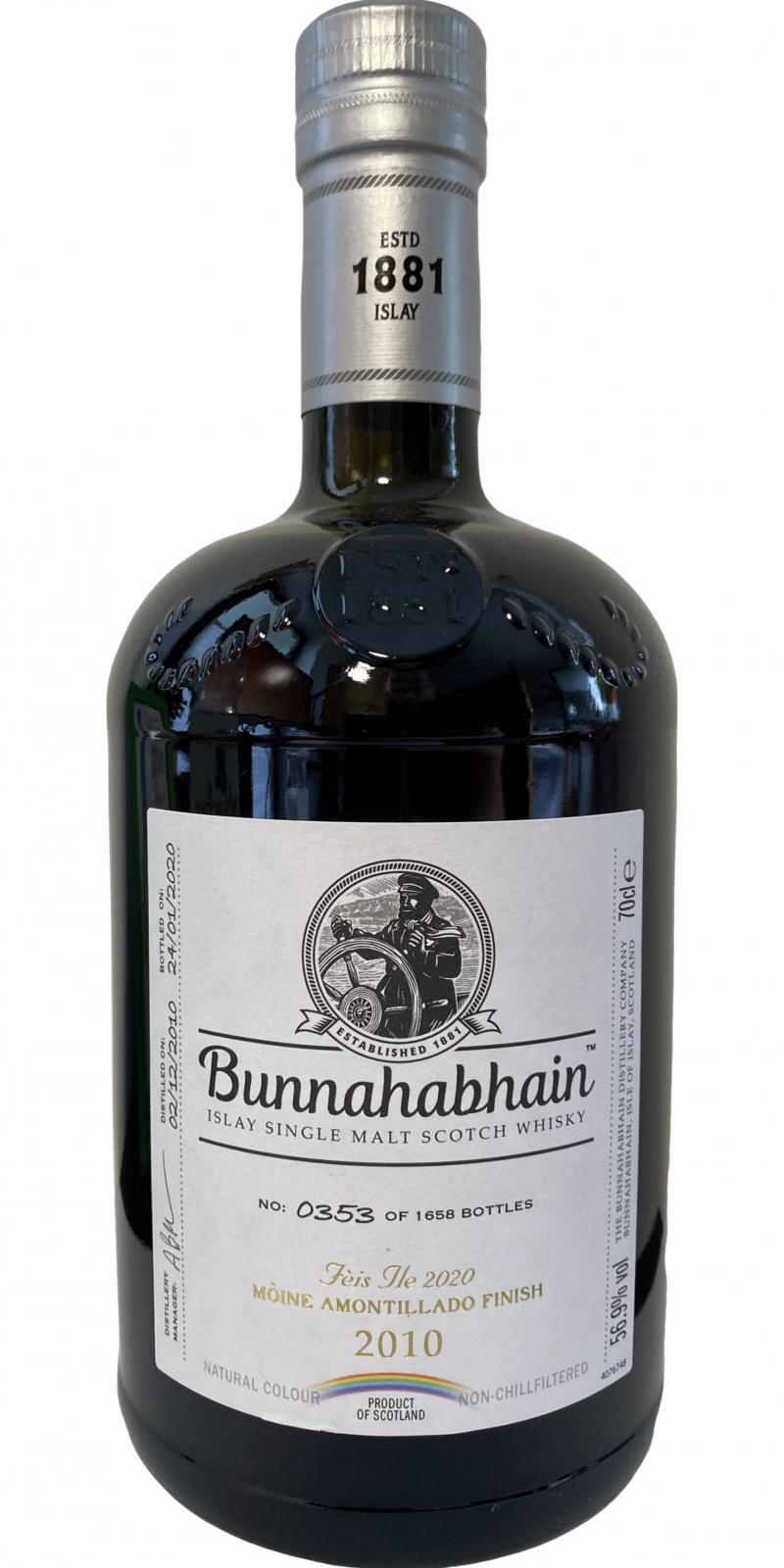 Bunnahabhain 2010 Mòine