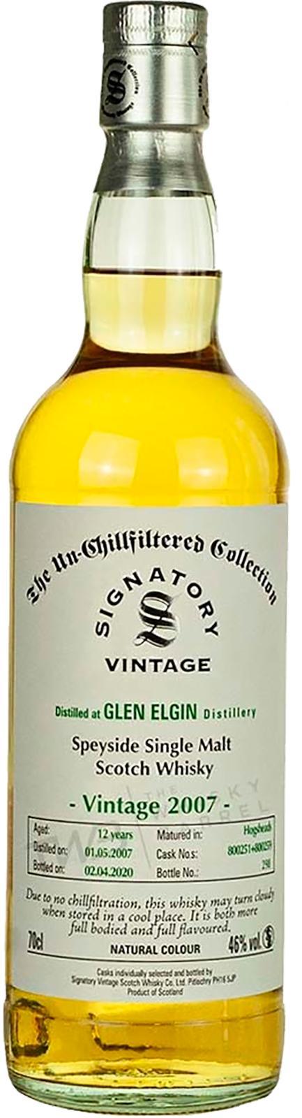 Glen Elgin 2007 SV