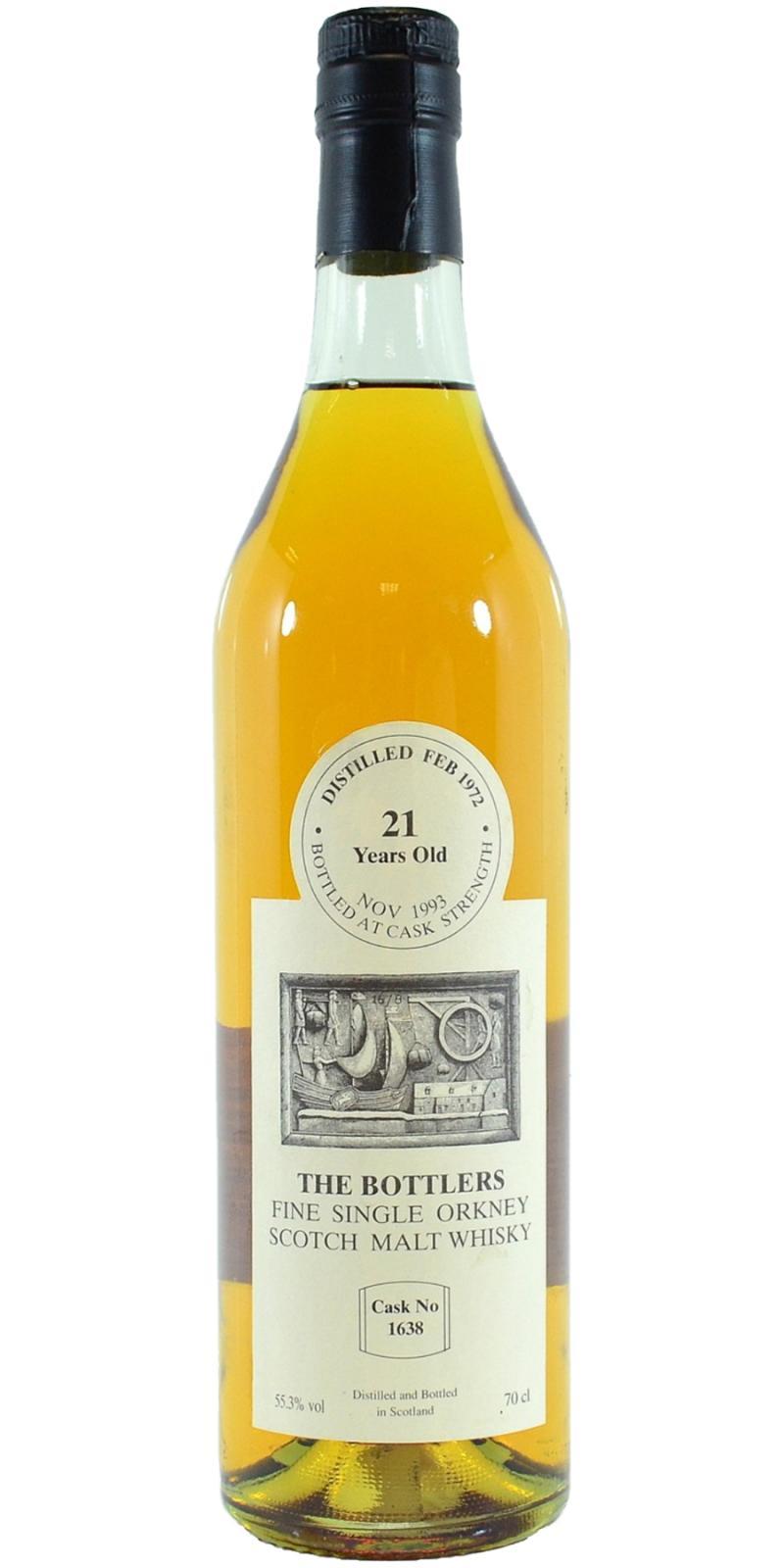 Fine Single Orkney Scotch Malt Whisky 1972 TB