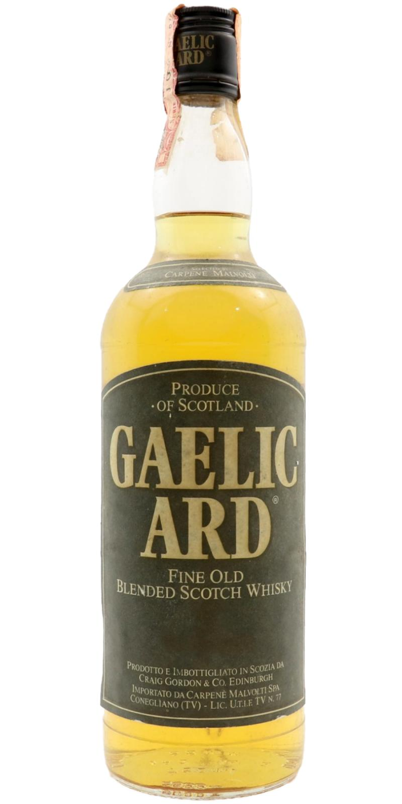 Gaelic Ard Fine Old Blended Scotch Whisky