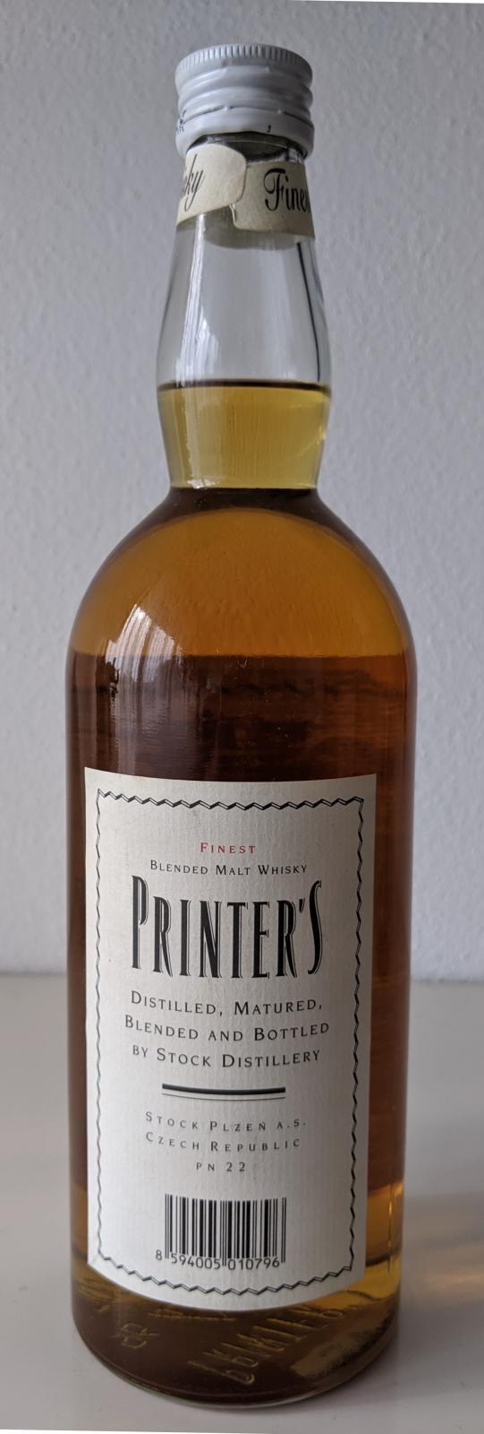 Printer's Finest Blended Malt Whisky