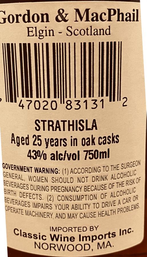 Strathisla 25-year-old GM