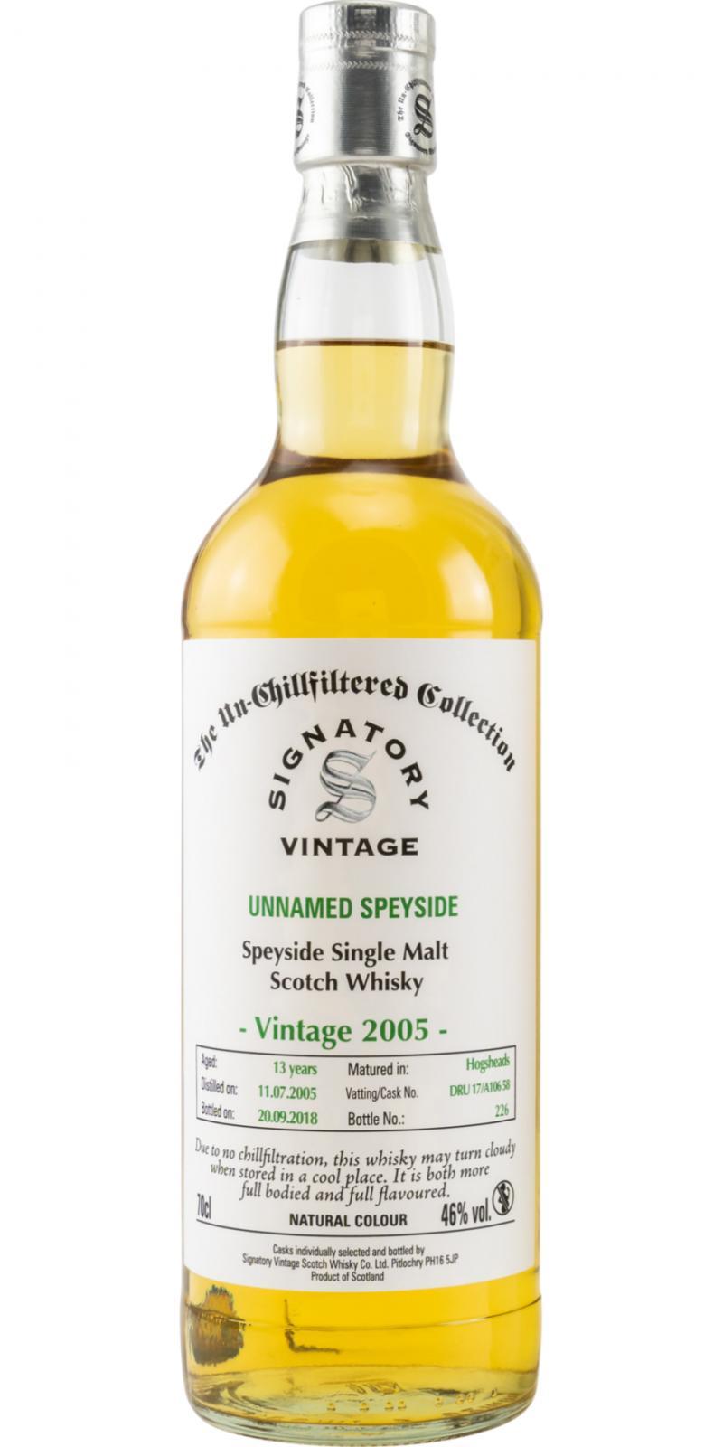 Unnamed Speyside 2005 SV