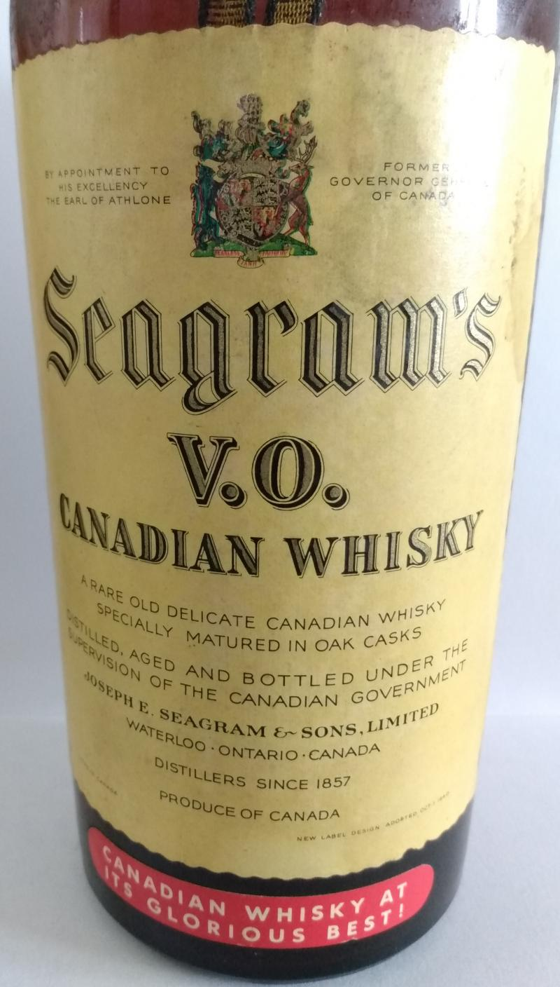 Seagram's V.O. Canadian Whisky