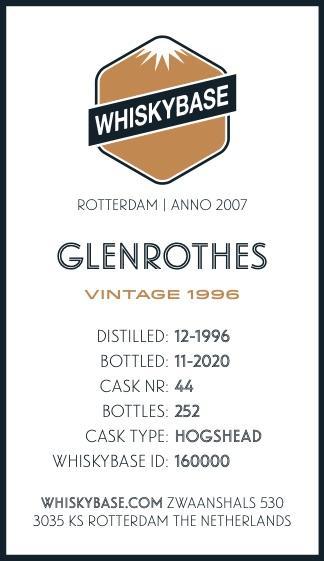 Glenrothes 1996 WB