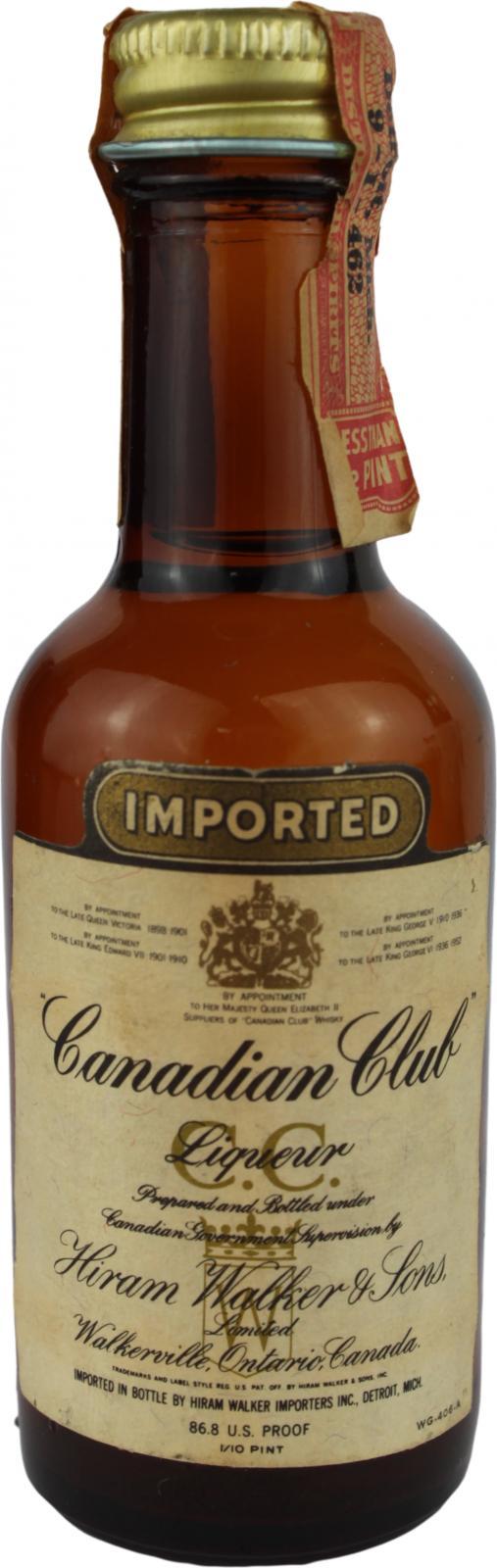 Canadian Club Prepared Liqueur