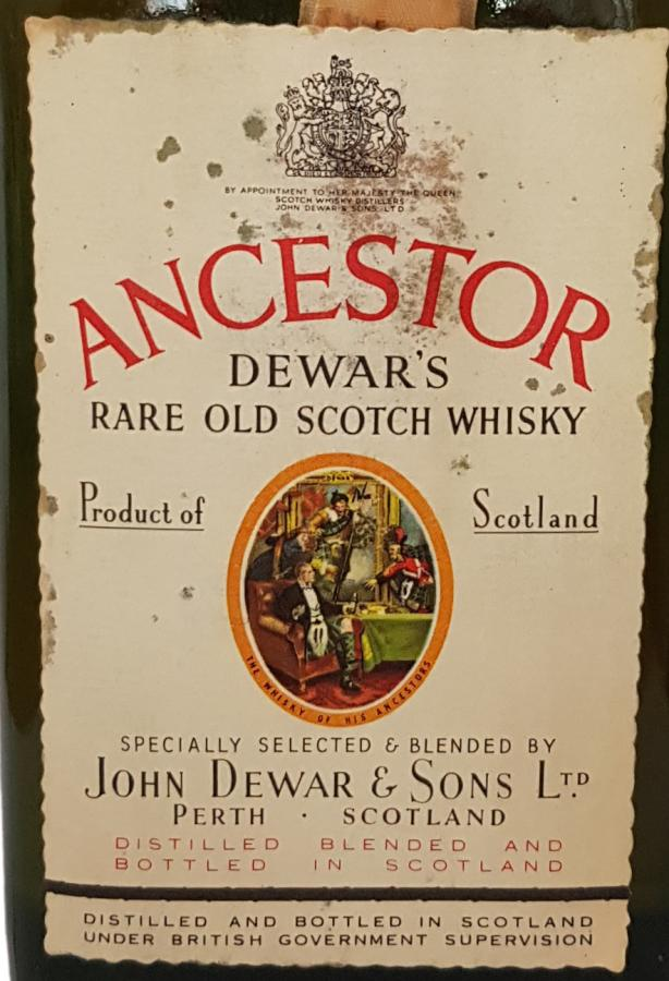 Ancestor Dewar's Rare Old Scotch Whisky
