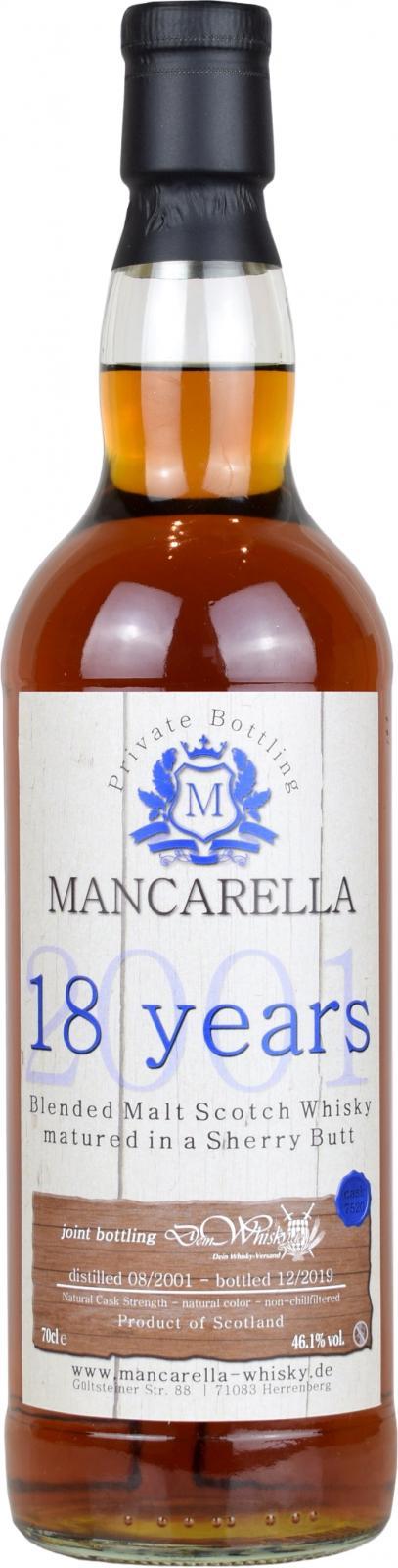 Blended Malt Scotch Whisky 2001 Ma