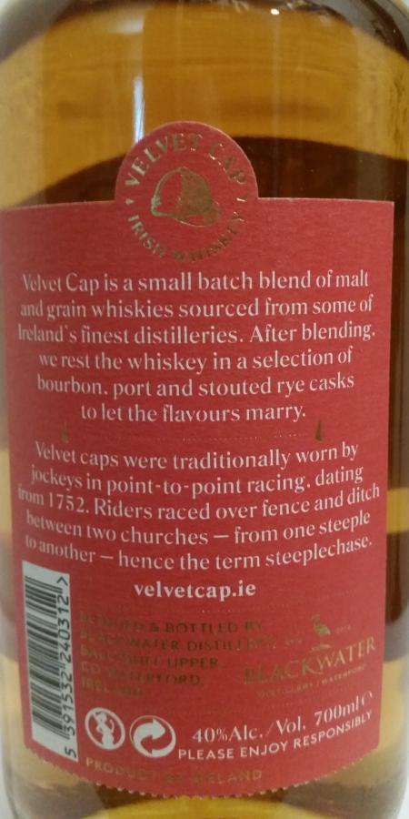 Blackwater Distillery Velvet Cap BLDI