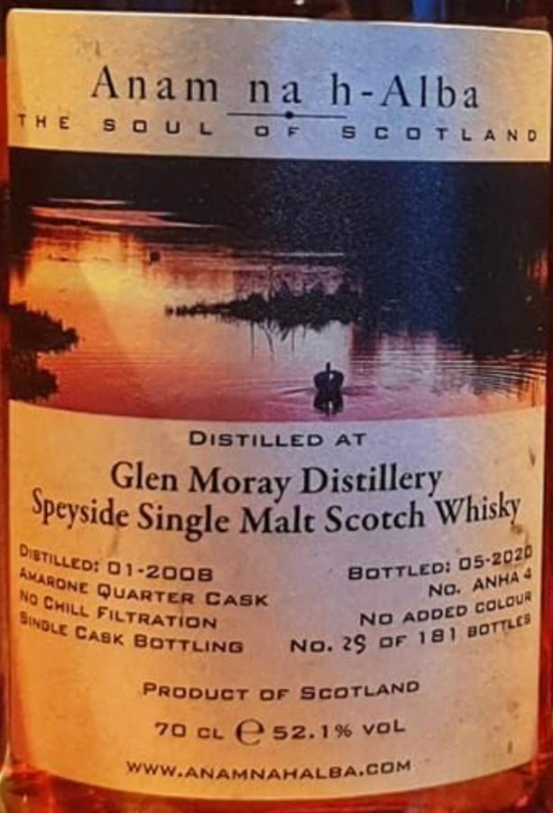 Glen Moray 2008 ANHA