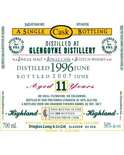 Glengoyne 1996 DL