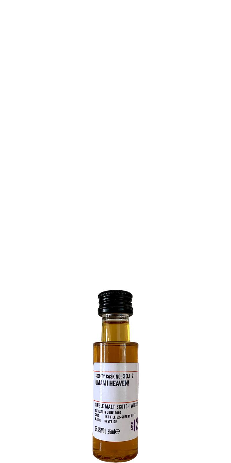 Glenrothes 2007 SMWS 30.112