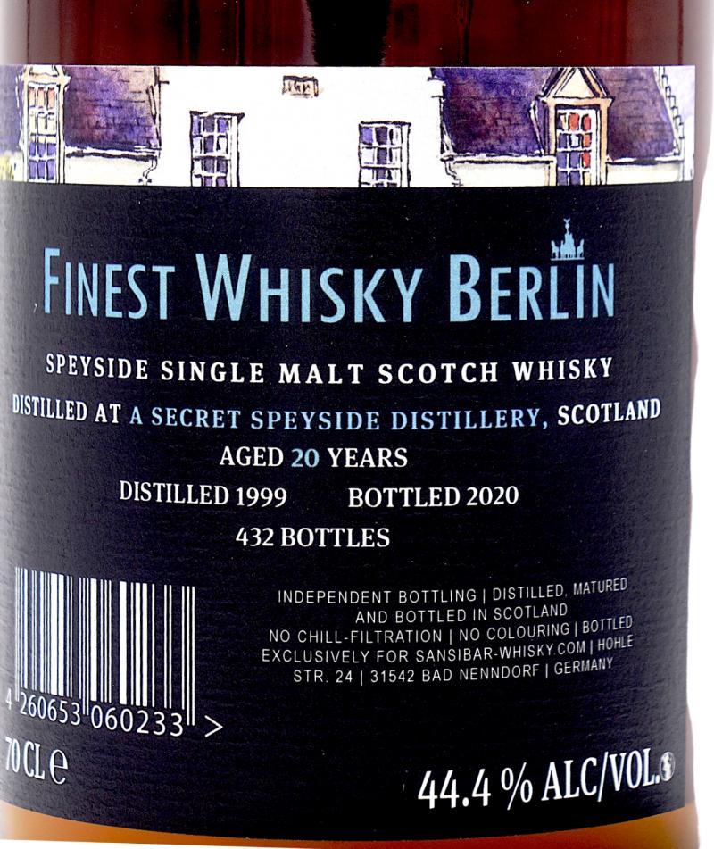 A Secret Speyside Distillery 1999 Sb