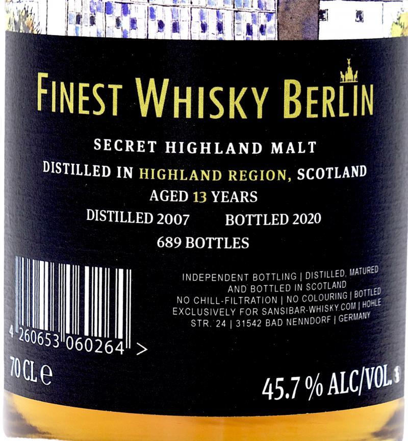 Secret Highland Malt 2007 Sb