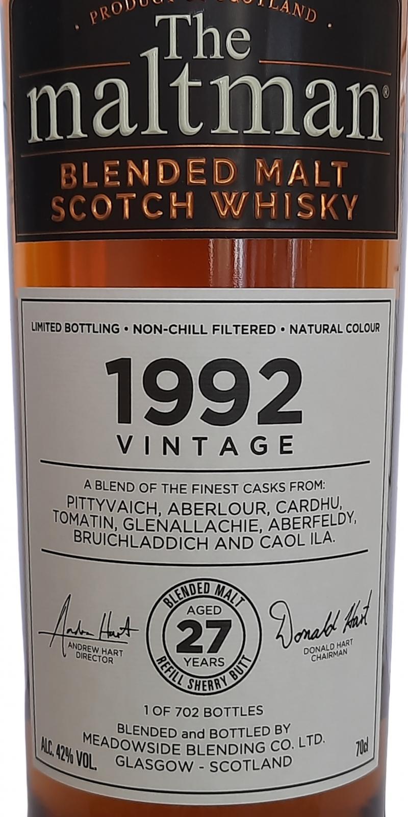 Blended Malt Scotch Whisky 1992 MBl