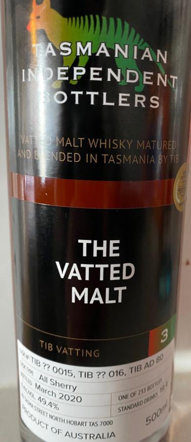 Tasmanian Independent Bottlers The Vatted Malt [3]