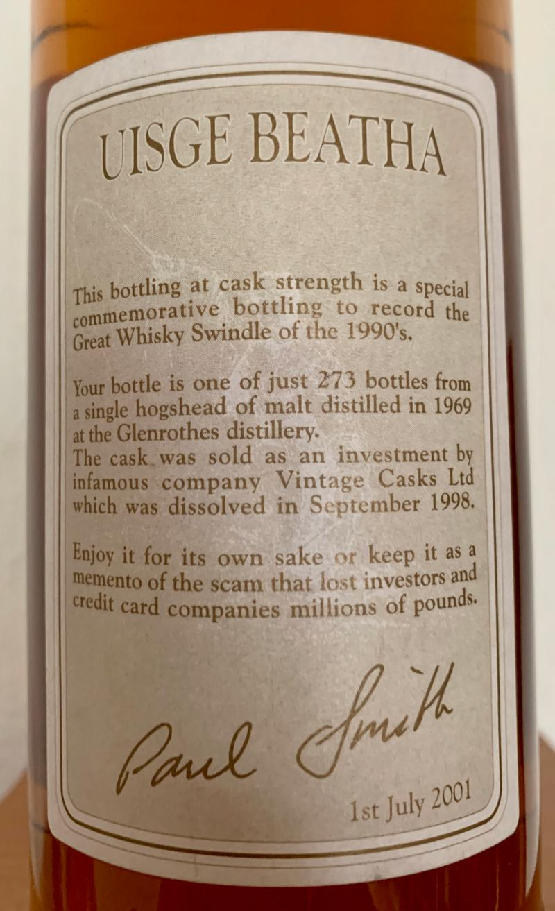 Glenrothes 1969 ViWh