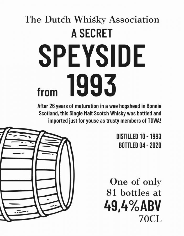 A Secret Speyside 1993 BI