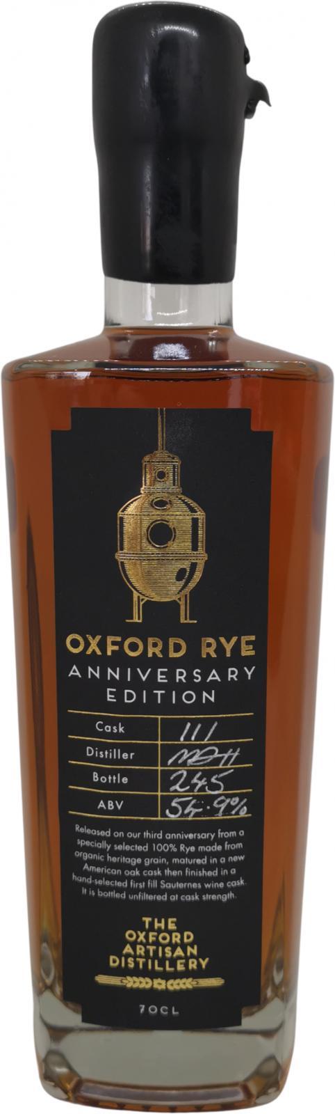 The Oxford Artisan Distillery Oxford Rye