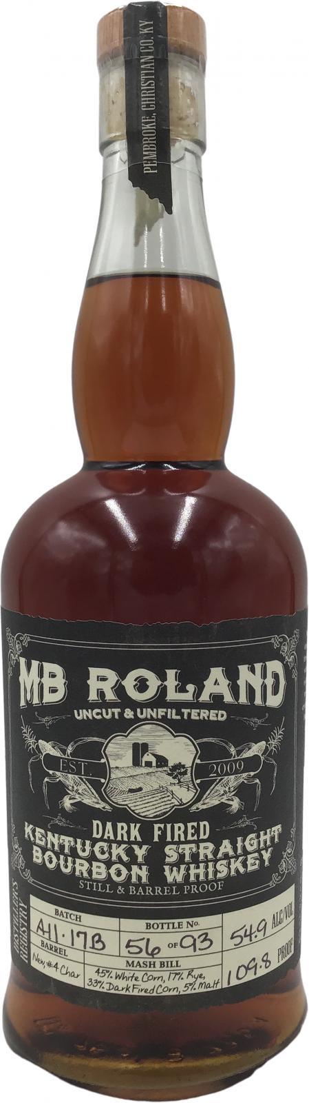 MB Roland Dark Fired - Kentucky Straight Bourbon Whiskey
